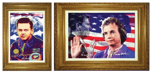 Original portraits of the late Senator Ted Stevens and U.S. Supreme Court Justice Sandra Day O'Connor, by Pop Artist Nicolosi, are being auctioned off to raise funds for youth sportfishing education in Alaska.