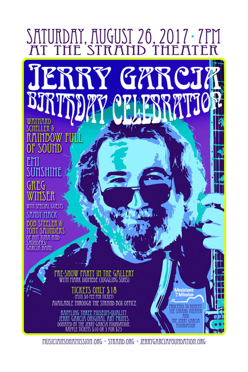 Jerry Garcia Birthday Celebration on Saturday, August 26 at The Strand Theater