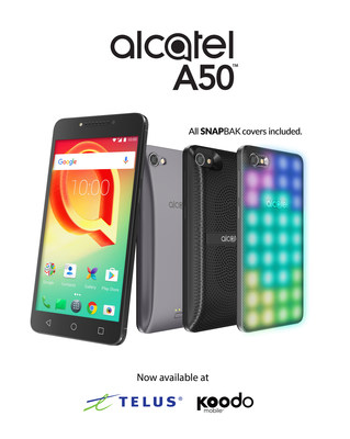 Mix, Match, and Customize the Alcatel A50™ Smartphone to Make It All Your Own – Coming August 18 to Telus and Koodo (CNW Group/Alcatel)