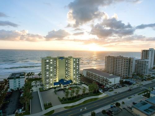 The Aruba Condominium rendering on Daytona Beach Shores.