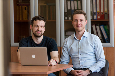 Pavel Sorokin and Dmitry Kvashnin, Authors of the scientific article (PRNewsfoto/NUST MISIS)
