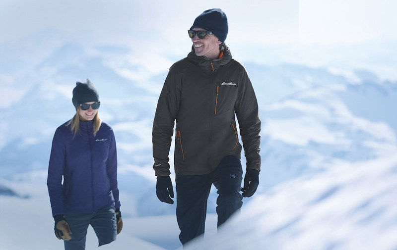 Adrian Ballinger, Eddie Bauer Guide, wears Eddie Bauer's new EverTherm Down Jacket
