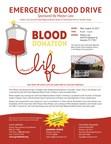 Emergency Blood Drive- Sponsored by Mostyn Law