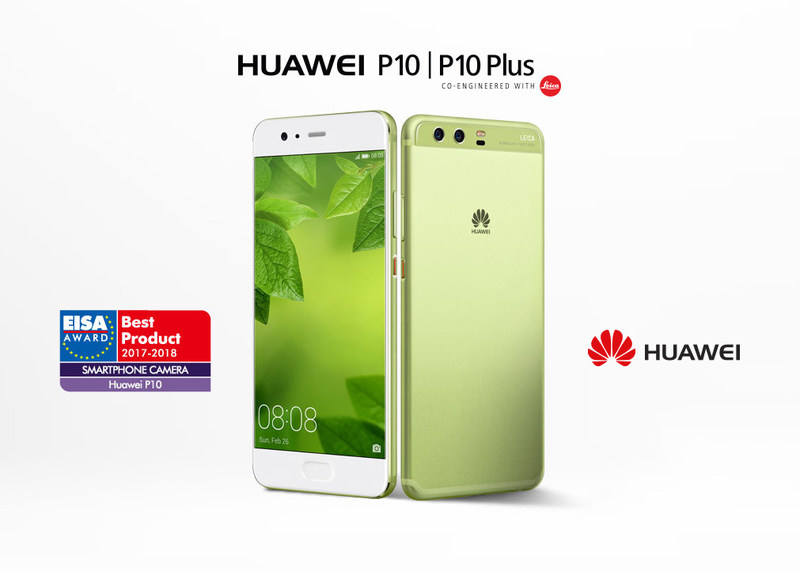 Huawei P10 wins Best smartphone camera 2017/2018 award from EISA (CNW Group/Huawei Consumer Business Group)