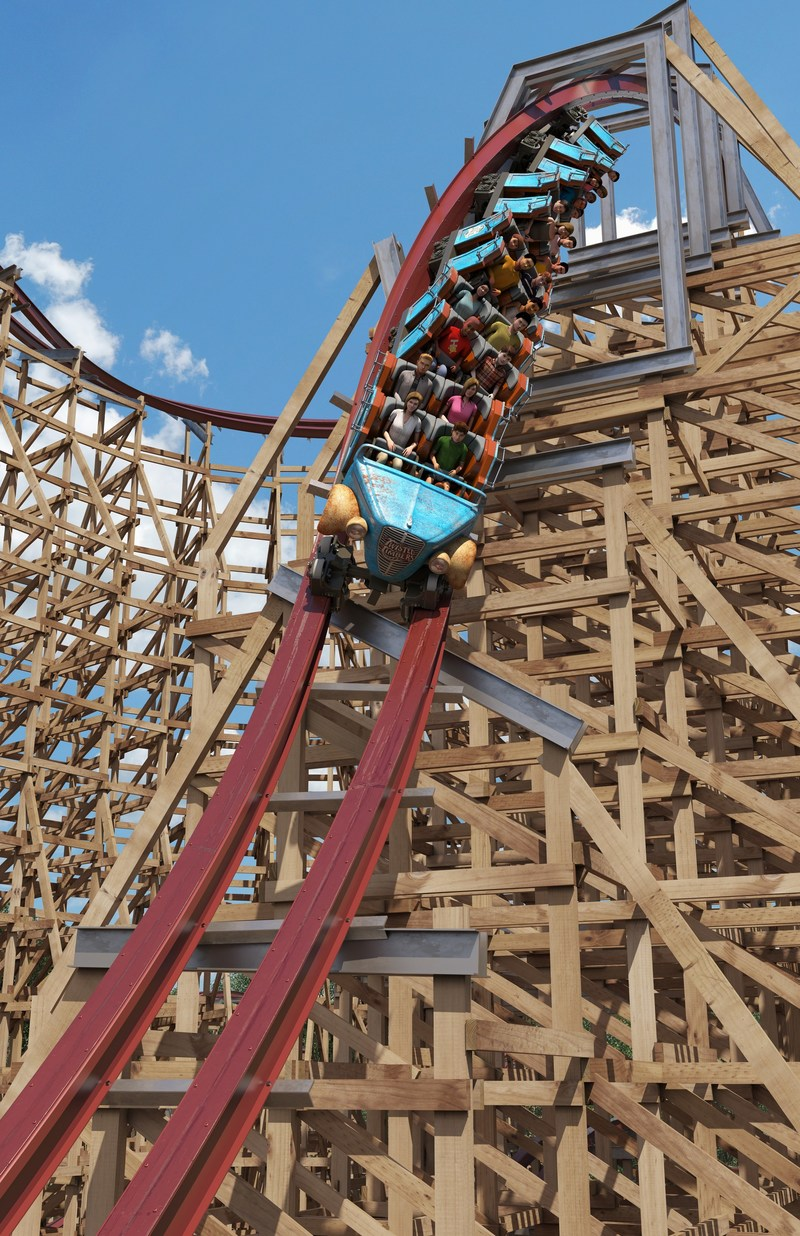 Twisted Timbers Barrel Roll Drop