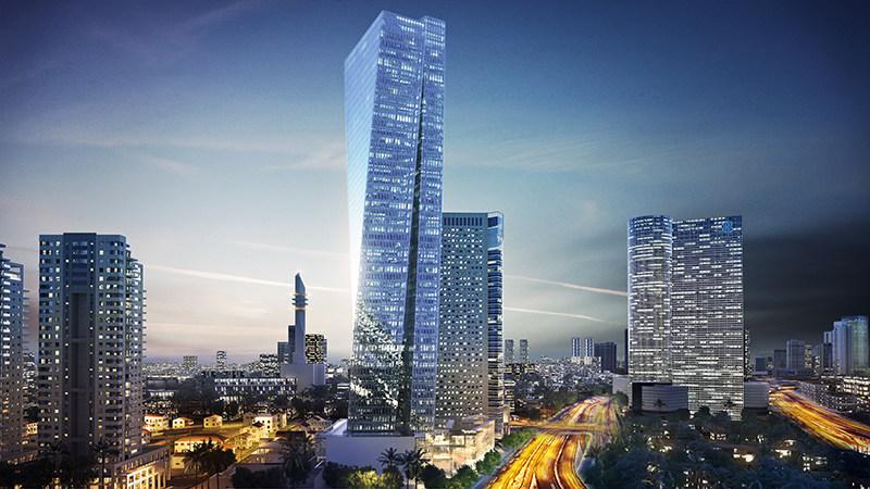 Azrieli Sarona; Azrieli's flagship development project in the heart of Tel Aviv