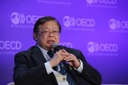 H.E. Mr. Virasakdi Futrakul, Deputy Foreign Minister of Thailand (then Vice Minister for Foreign Affairs of Thailand), discussed Southeast Asia's and Thailand's view on international trade and investment at the 2016 OECD Forum, in June 2016 at the OECD Headquarters in Paris France (Photo: OECD / Hervé Cortina) (PRNewsfoto/Ministry of Foreign Affairs, Th)