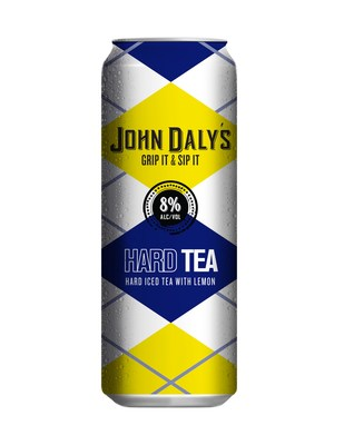 John Daly's New Grip it and Sip it Hard Tea is in stores now nationwide. This is one of two flavors rolled out recently as part of the PGA Legend's partnership with Phusion Projects. The classic cocktail bearing John Daly's name comes in ready-to-drink 16 oz. cans and is made of alcohol, real black tea and lemonade.