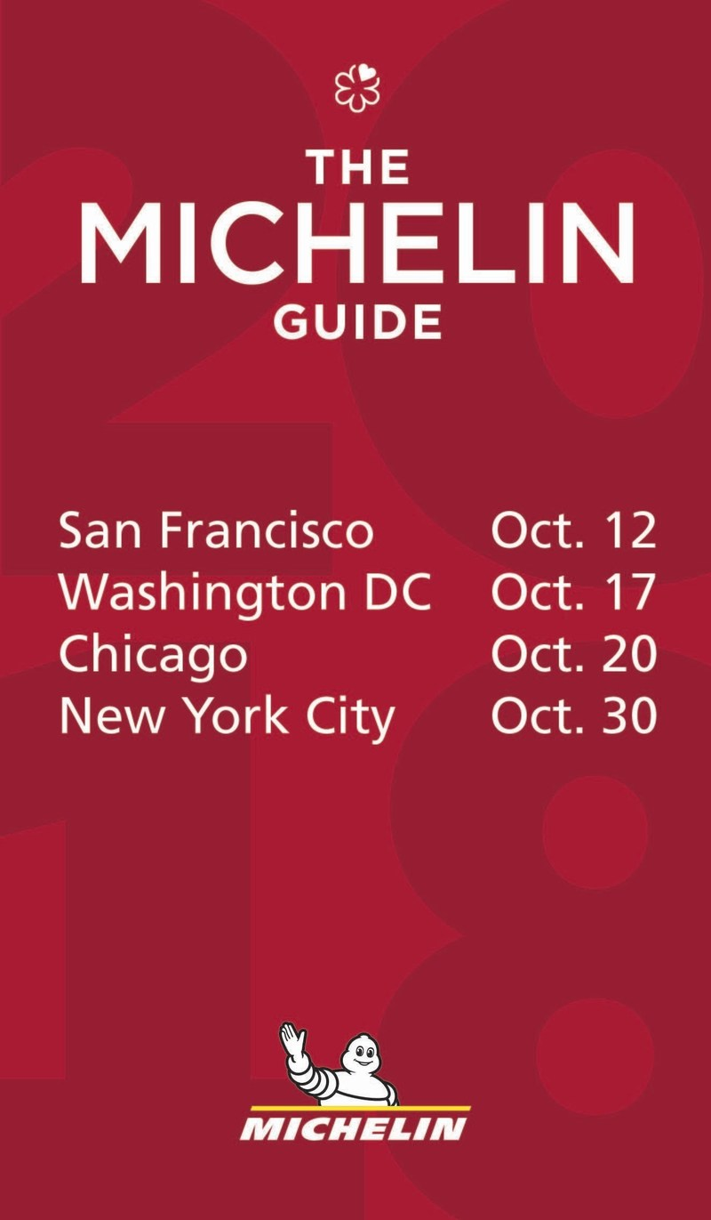 Mark your calendars for the 2018 Michelin Guide release dates