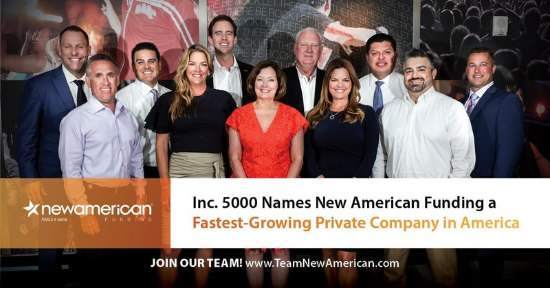 Inc. 5000 Names New American Funding a Fastest-Growing Private Company in America