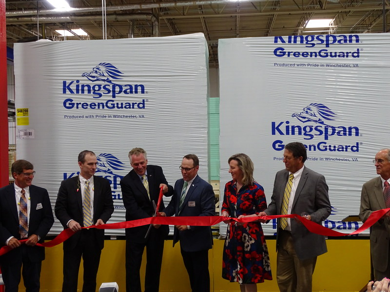 Kingspan Insulation LLC celebrates the opening of its new XPS manufacturing line in Winchester, Virginia.