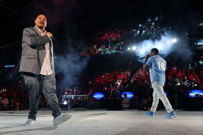 "Fat Joe & TA of Terror Squad perform Fat Joe's smash hit ""Lean Back"" for the capacity crowd."