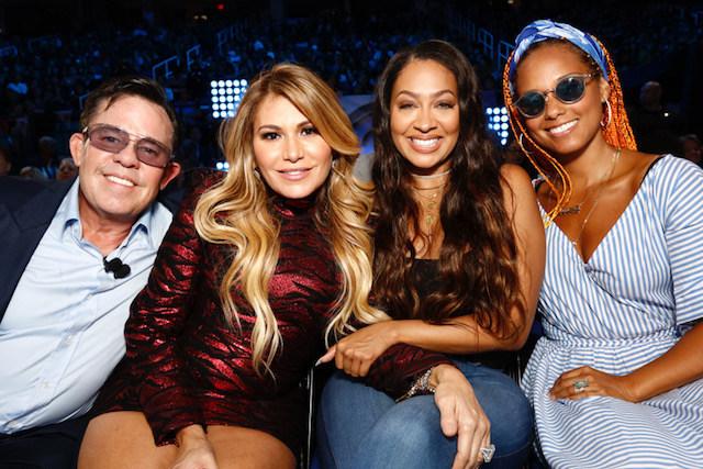 JR Ridinger, Loren Ridinger, La La Anthony & Alicia Keys in the front row.