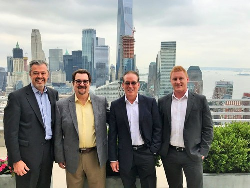 Pictured from left to right: COO, Tim Herman; Chairman & CEO, John Jennings; CFO, Cort Sabina; and Senior Financial Analyst, Ryan Lebeau.