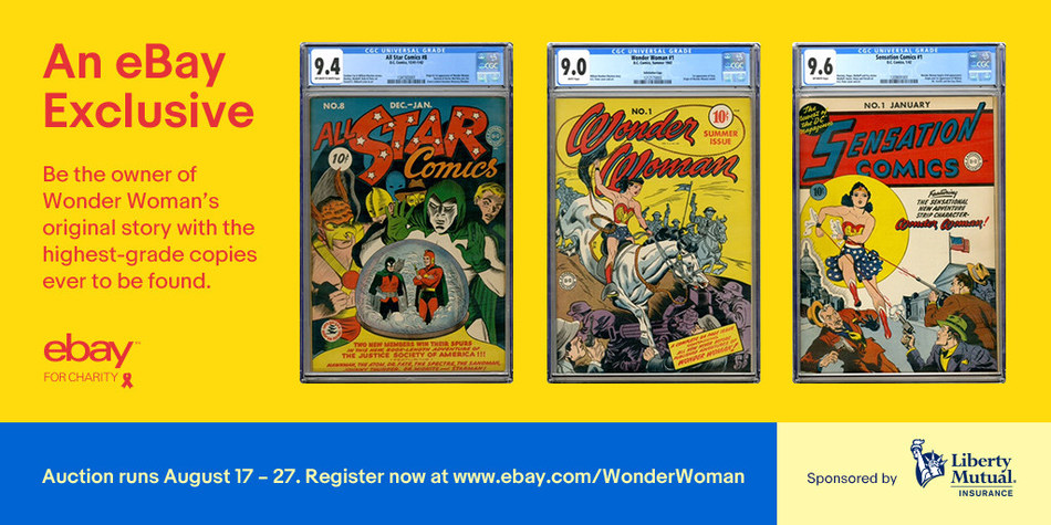 Three rare comics being sold through separate auctions on eBay. A portion of the proceeds will benefit the international non-profit organization, Trafficking Hope.
