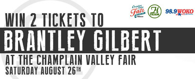 Country music fans can enter two contests at Heritage Ford in an attempt to win tickets to see Brantley Gilbert at the Champlain Valley Fair.