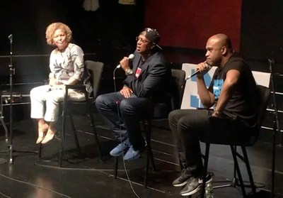 Debra Lee, CEO of BET, Master P, CEO of No Limit and L. Londell McMillan, executive producer of SOURCE360 Festival and Conference.