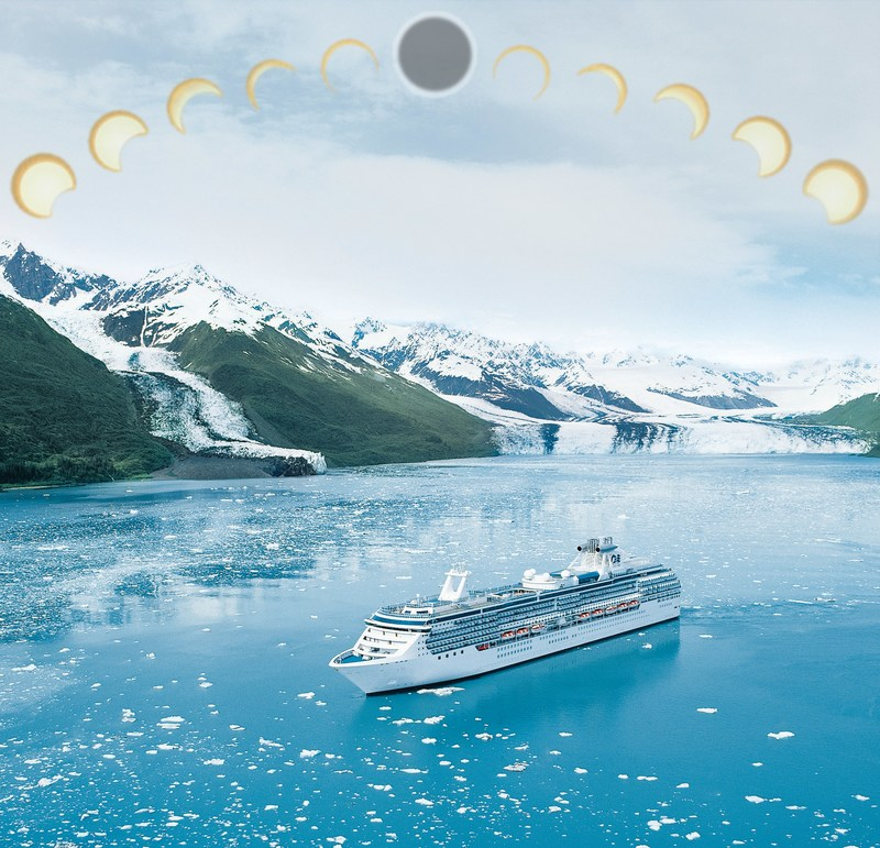 Princess Cruises Ships Present Unique Viewing For Great American Eclipse on August 21