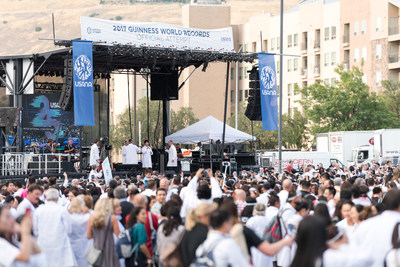 Stage at USANA's Guinness World Records attempt