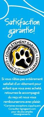 Satisfaction garantie de Tigre Géant (Groupe CNW/Giant Tiger Stores Limited)