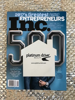 Inc. Magazine names Platinum Drive Realty to Inc. 5000 List of America's Fastest Growing Private Companies!