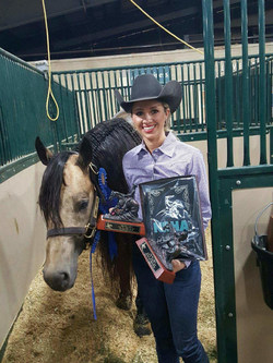 Courtney Battison and Wimpys Little Nite have qualified for two outstanding equestrian competitions: the AQHA World Championship Show in November 2017 and the FEI World Equestrian Games in September 2018.