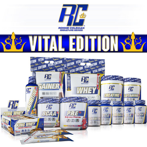 A new range of sports supplements by Ronnie Coleman targeted toward a larger, economical minder shopper