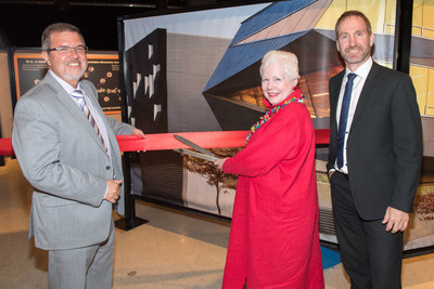 It's official! The Power of Ideas exhibition is open at the Ontario Science Centre until August 31, 2017. Maurice Bitran, CEO and Chief Science Officer, Ontario Science Centre; The Honourable Elizabeth Dowdeswell, Lieutenant Governor of Ontario; and Greg Dick, Director of Educational Outreach, Perimeter Institute, opened the joint Science Centre-Perimeter Institute travelling exhibition, which is making its way across the country in honour of the sesquicentennial, in Toronto earlier today. (CNW Group/Ontario Science Centre)