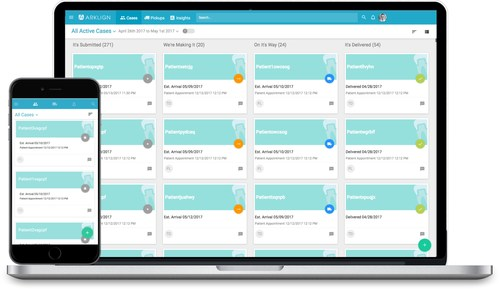 Arklign Case Relationship Management (aCRM) optimizes the dental lab workflow for Arklign customers by simplifying submissions, centralizing communication with the lab and providing data with actionable insights.