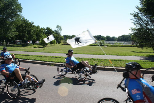 Wounded veterans recently rode through Minneapolis for Soldier Ride.