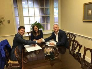 Avanti Holding Group principal Teddy Kim and OPEI President and CEO Kris Kiser close Aug. 15.