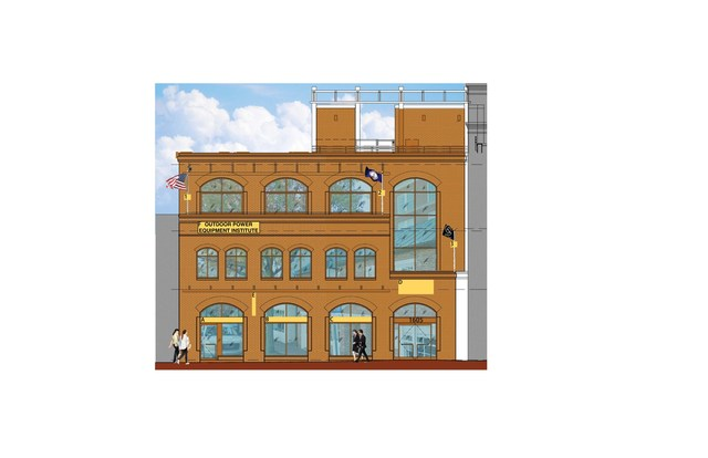 An architect's rendering of the façade of OPEI's new headquarters at 1605 King Street.