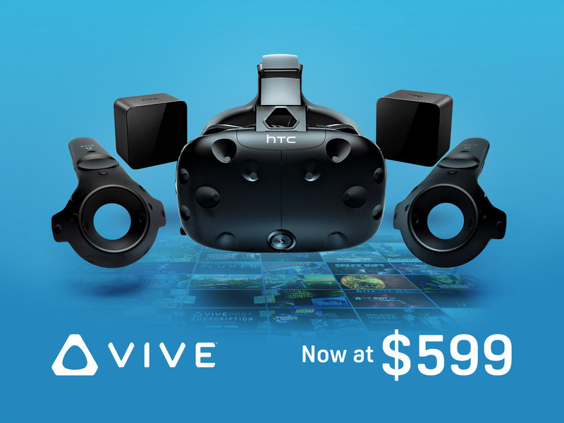 HTC Vive Now Available for $599
