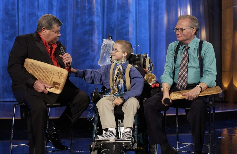 2002 MDA Telethon - Jerry Lewis, Mattie Stepanek and Larry King