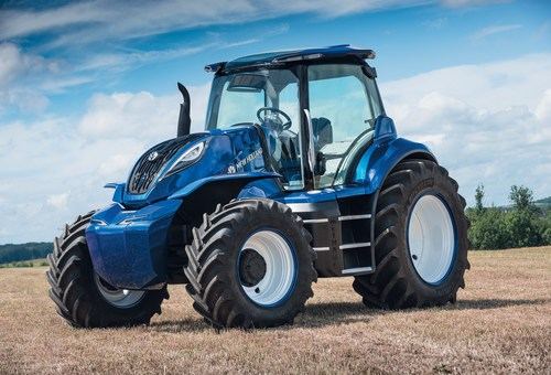 The new Holland Agriculture methane powered concept tractor