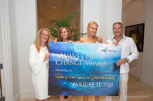 L-R: Marilyn Wilson, founder of the WAV Group; Kim Hansen, RAPB+GFLR COO; Dionna Hall, RAPB+GFLR CEO; and Ron Lennen, President-Elect of the RAPB+GFLR
