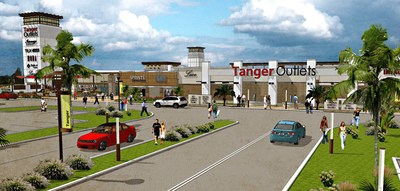 Tanger Outlets Main Entry Rendering