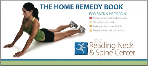 Back pain sufferers can request a free 36-page Home Remedy Book at SpineCenterNetwork.com. The book has symptom charts and custom stretches that can relieve many back and neck pain symptoms.