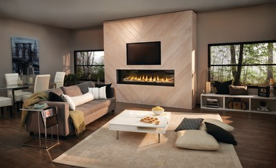 Napoleon's new Luxuria Linear Series features industry-unique technology that eliminates the need for a fireplace safety screen.