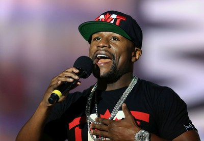 Floyd Mayweather Jr  during the press conference. (PRNewsfoto/hublot)