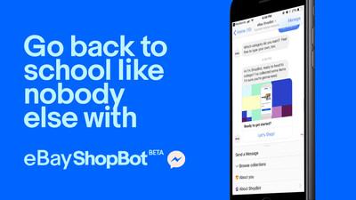Go back to school like nobody else with eBay ShopBot