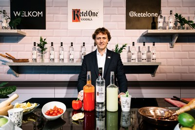 Bob Nolet, the 11th generation of the Nolet family distillery, whose father Carolus Nolet Sr., created Ketel One Vodka, hosted a Bloody Mary tour around the world at the World Class Bartender of the Year finals in Mexico. (PRNewsfoto/Ketel One Vodka)