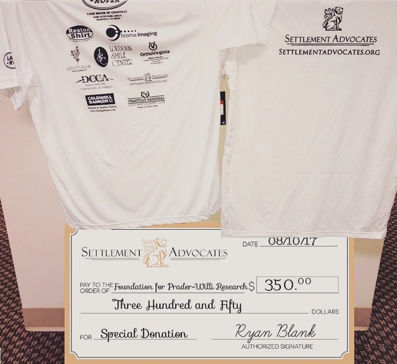 Settlement Advocates was a pro-am sponsor of the Men's Doubles Invitational Benefiting the Foundation for Prader-Willi Research