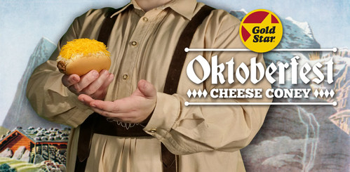 Gold Star Chili brings back the Oktoberfest Cheese Coney.  The WURST coney ever. In restaurants from 22 August.