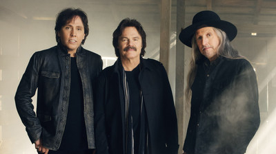 The Doobie Brothers (left to right) John McFee, Tom Johnston, and Patrick Simmons