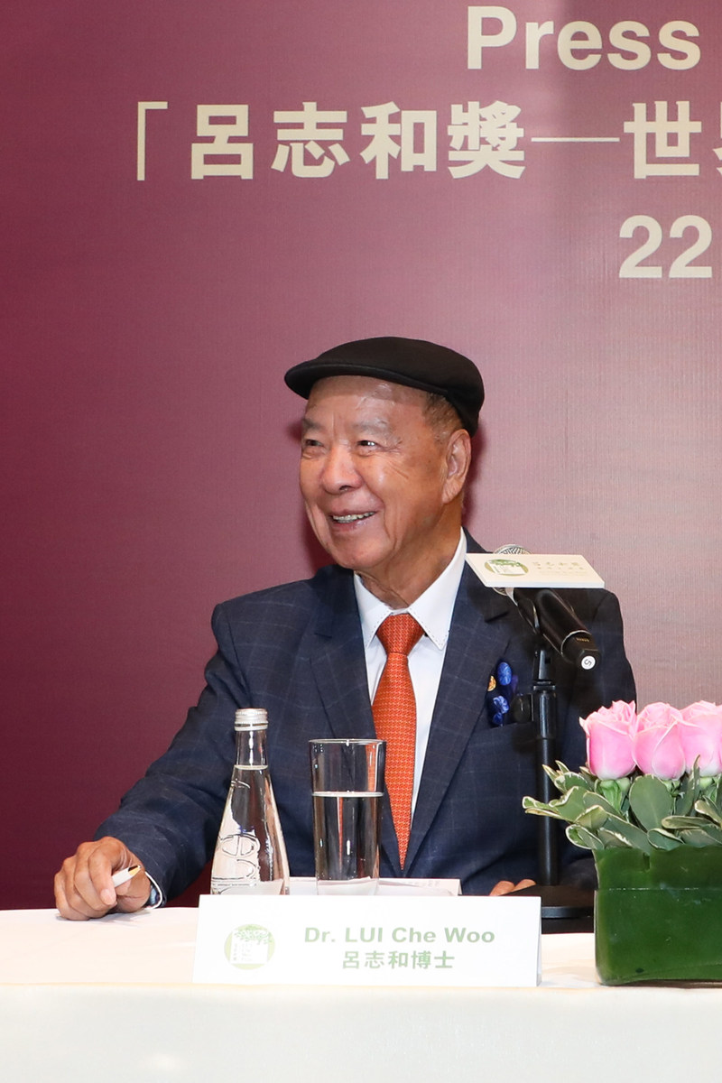 Dr. Lui Che Woo, Founder & Chairman of the Board of Governors cum Prize Council, LUI Che Woo Prize (PRNewsfoto/LUI Che Woo Prize Limited)
