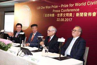 LUI Che Woo Prize – Prize for World Civilisation announces the 2017 Laureates. (PRNewsfoto/LUI Che Woo Prize Limited)