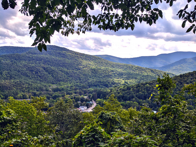 View from peak of Tanbark Trail, Phoenicia, NY