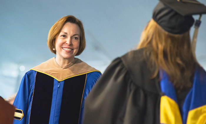 Bentley University President Gloria Cordes Larson