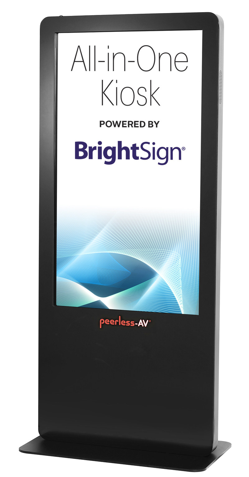 Peerless-AV® All-in-One Kiosk Powered by BrightSign®
